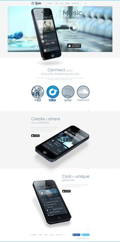 Unique Web Design, Listn #WebDesign #Design (http://www.pinterest.com/aldenchong/)