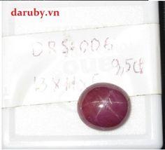 Đá ruby sao DRS006, đá ruby tự nhiên