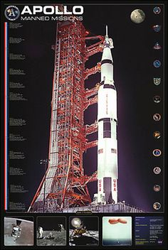 Apollo Manned Missions Poster $16 One Small Step, Museum Store, Air And Space Museum, Other Space, Space Race, Apollo 11, New Poster, Space Exploration, Astronomy