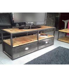 Meuble industriel tv métal bois