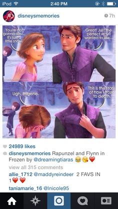 Rapunzel and Flynn in Frozen! XD