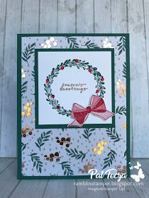 Ramblin' Stamper: Wishing You Well Christmas Card