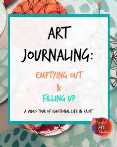 Great tutorial on art journaling and a journal flip through. She works intuitively.