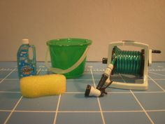 Miniature car wash set from Rement