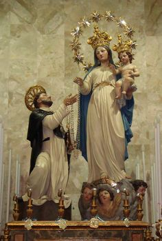 Our Lady of the Rosary and Saint Dominic in the Dominican Church in Palermo, Sicily