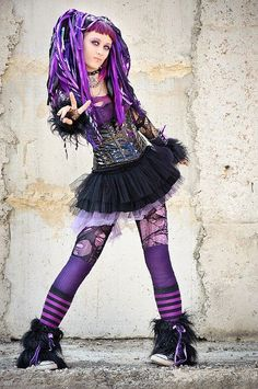 Purple Black #CyberGothGirl #CyberGoth