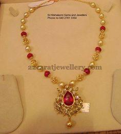 Jewellery Designs: Necklace from Srimahalakshmi Jewellers