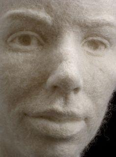Marble Portrait Bust.   #Felted #wool by Stephanie Metz art