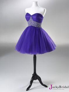 Blue Beaded Tulle Short Prom Dress 2013 I really really REALLY love this dress!!