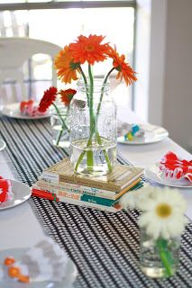 Love this centerpiece for a storybook-themed baby shower