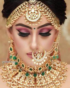 Rio de Oro Soutache bracelet Boho bracelet Gold bracelet Wedding bracelet Soutache jewelry Bridal bracelet Wedding jewelry Gift for her - Custom Jewelry Ideas Bridal Makeup Images, Bridal Eye Makeup, Bridal Makeup Looks, Bride Makeup, Beautiful Bridal Makeup, Indian Bridal Jewelry Sets, Indian Bridal Outfits, Indian Bridal Fashion, Bridal Jewellery