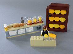 Modular Building: Cheese Shop And Museum LEGO Modular Building: Cheese Shop And Museum Lego Duplo, Lego Mecha, Legos, Pokemon Lego, Lego Hacks, Casa Lego, Lego Food, Lego Furniture, Minecraft Furniture