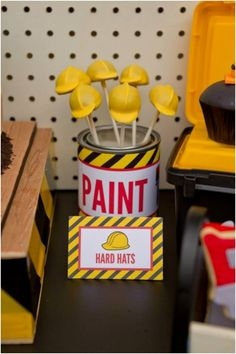 Boys Construction Themed Birthday Party Ideas - Spaceships and Laser Beams