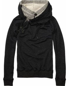 Home Alone Sweater With Double Layer Hood > Womens Clothing > Sweaters at Maison Scotch - Scotch & Soda Online Fashion & Apparel Shop