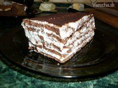Smotanový zákusok (fotorecept) s tvarohom Dessert Recipes, Desserts, Tiramisu, Cheesecake, Sweet, Ethnic Recipes, Food, Tailgate Desserts, Candy