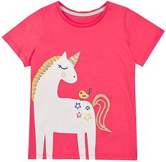 Girls Summer Tops Baby Clothes Children Cartoon shirts for Girls Costumes Unicorn Summer Girls Tops & Tees Baby Girl Tops, Baby Girl Romper, Baby Girls, Kids Girls, Toddler Girls, Clothes 2018, Pet Clothes, Summer Clothes, Cartoon T Shirts