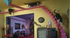 Färgglad trappa!  minakatterstyrmittliv.se källa google
