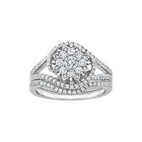 Enchanted Disney Diamond Wedding Set in 14K White Gold