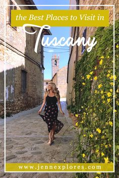 Plan your perfect Tuscany itinerary with this guide of the best places to visit in Tuscany, Italy! #roadtrip #tuscany #italy Montalcino, Pienza, Siena, Lucca, San Gimignano, Pitigliano. and more!
