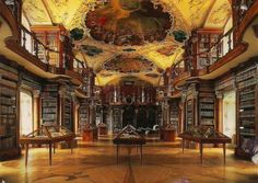 Abbey Library of St. Gall    St. Gallen, Switzerland  It is one of the oldest and most valuable monastic libraries in the world and the oldest one in Switzerland.