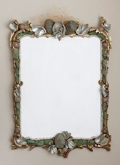 MareVeccioMirror, Mare Vecchio (Old Sea) circa Italian, gold leaf/gilt mirror, restored and redesigned…to give it a new life by retaining the old patina and quality of the original hand carved wood frame!