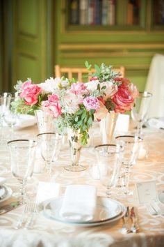 garden inspired centerpiece | Photo by Eli Turner Photography; Event Planning by Bash; Florals by Growing Wild Floral Company