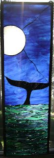 Mystery, a framed mosaic stained glass piece by artist Amber Irwin