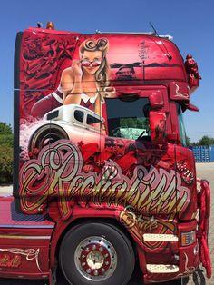 Customised Trucks, Custom Trucks, Show Trucks, Big Rig Trucks, Scania V8, Truck Paint, Custom Big Rigs, Road Train, Cab Over