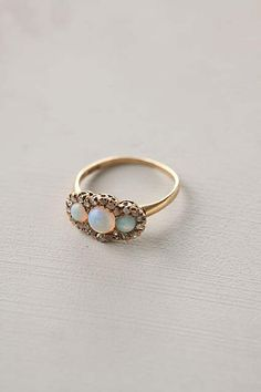Opal & Diamond Frame Ring - anthropologie.com