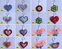 Felt Key ring/Charm  Handmade  Free Shipping in by vitbich on Etsy