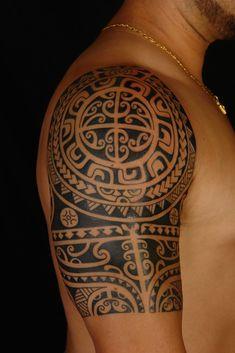 MAORI POLYNESIAN TATTOO: Polynesian Shoulder Tattoo On Anthony