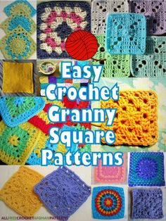 These free patterns are cute, perfect for beginner crocheters, and great for quick projects. You can't go wrong with easy crochet granny square patterns!