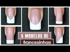 Como Fazer Francesinha (French Nails) | Cola na Villar - YouTube