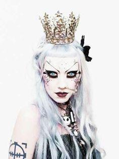 My constant inspiration, Adora BatBrat Queen Makeup, Goth Makeup, World Of Gothic, Adora Batbrat, Fantasy Make Up, Cybergoth, Gothic Beauty, Gothic Chic, Costume Makeup
