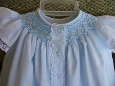 smocked button front bishop