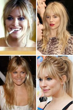 How to get a new hairstyle for women bella swan prom hairstyle,good hairstyles new short hairstyles,hair fringe 2016 hair color chart. Fringe Hairstyles, Hairstyles With Bangs, Pretty Hairstyles, Long Hair With Bangs, Short Hair Cuts, Short Hair Styles, Sienna Miller Hair, Sienna Miller Fringe, Grunge Hair