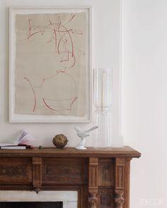 Mantel details - Remodelista's Francesca Connolly's Home - Brooklyn Interior Design - ELLE DECOR