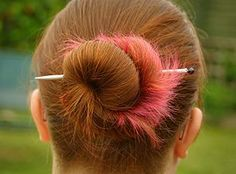 How to make a hair pin from a spare knitting needle