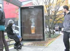 McDonalds Coffee Steam at Bus Shelter - The Inspiration Room Bus Stop Advertising, Guerrilla Advertising, Print Advertising, Marketing And Advertising, Digital Marketing, Advertising Campaign, Print Ads, Street Marketing, Guerilla Marketing