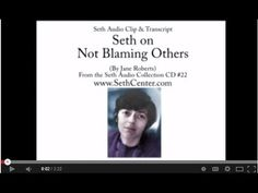 Seth on Not Blaming Others