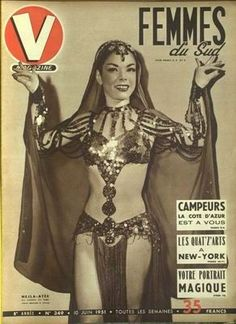 This looks like Nelja Ates, a Turkish Bellydancer famous for being in The Son of Sinbad. Not sure, though, but the fascinator cap looks like...