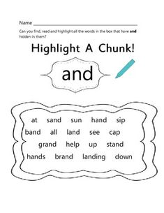 FREE Chunking Activities Printables ALL MAY EARNINGS TO BENEFIT RUNNING FOR RESCUES...STORE WIDE SALE NOW!