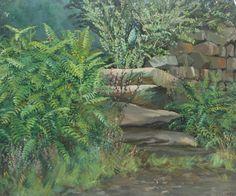 Stream Running By Stone Wall  William Henry Innes