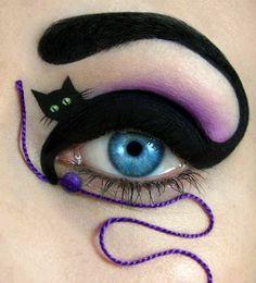 idée de maquillage Halloween femme yeux chat noir Superbe Maquillage,  Maquillage Créatif, Maquillage