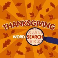 A #WordSearch, word find, word seek, word #sleuth or #mystery word #puzzle is a #word #game that consists of the letters of words placed in a grid. #Thanksgiving Themed.