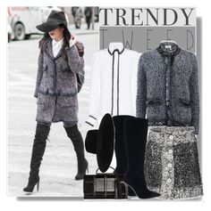 """""""trendy tweed"""" by drigomes ❤ liked on Polyvore featuring Chanel, Andrew Gn, Ralph Lauren, Lanvin, Christopher Kane, Maison Michel, women's clothing, women, female and woman"""