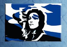 "QUADRO dipinto a mano MADONNA ""American Life in blu"" Pop Art moderno 80x50 cm"