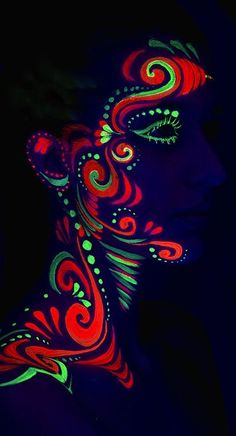 UV body paint under black light