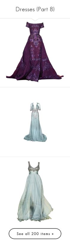 """""""Dresses (Part 8)"""" by ilovecats-886 ❤ liked on Polyvore featuring dresses, gowns, long dresses, vestidos, evening gowns, long purple dress, purple gown, purple dresses, purple ball gowns and purple evening dress"""