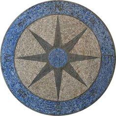 Mosaic Art - Compass Stone
